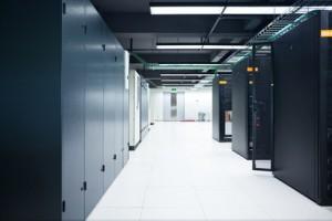 Server rack cluster in a data center QueBlue.com